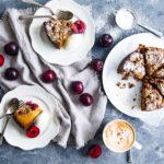 Plum, Cinnamon and Hazelnut Crumble Cake